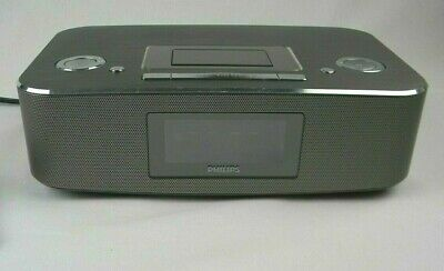 Philips Radio iPod iPhone Alarm Clock Speaker Dock DC290/B37 30 Pin Working!~