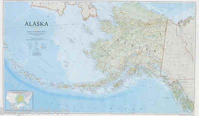 DEFECT - National Geographic Alaska AK State Wall Map Standard RE01020587