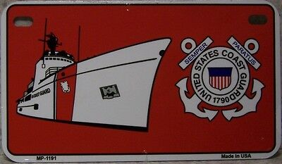 Aluminum Motorcycle License Plate Military Coast Guard NEW Wheelchair Golf Cart - Coast Guard License Plate