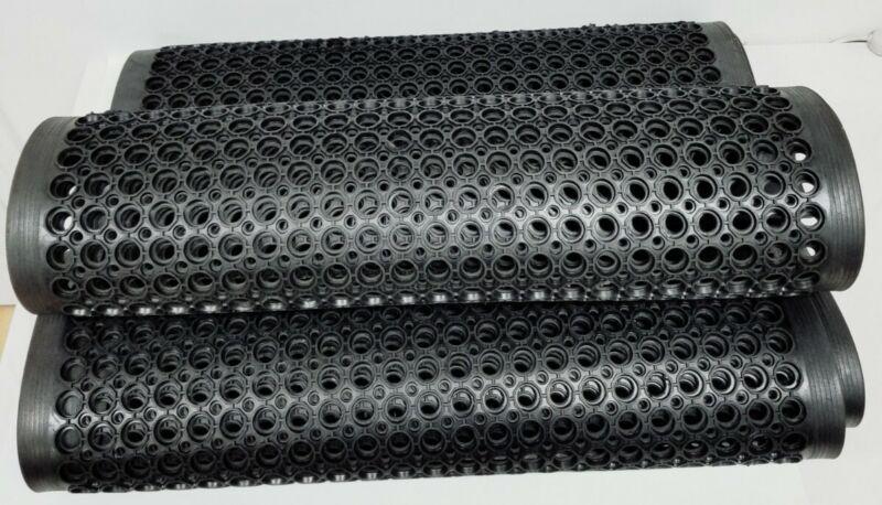 "Lot of 3 Anti-Fatigue Slip Resistant 36""X60"" Kitchen Black Rubber Floor Mats New"
