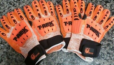 2 Pairs T-REX HEAVY DUTY WORK GLOVES NEW MAGID ANSI LEVEL 5 EN388 LEVEL 5 NEW