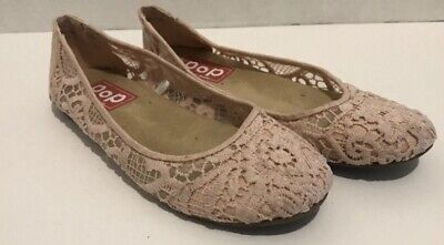 POP Memory Foam Womens Helen Pink Casual Shoes Flats Sizes 7.5M