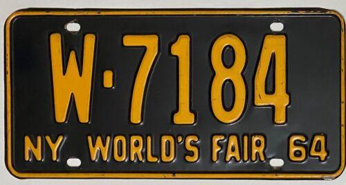 1964 NEW YORK License Plate  #W-7184