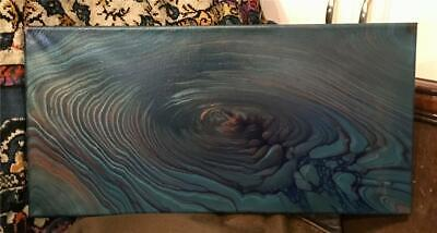 BLIND FAITH COLOR SHIFTING Abstract Painting 10X20 Canvas Original Fluid Art - $35.00