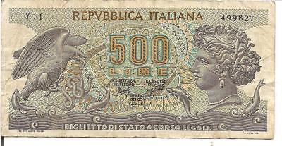 ITALY, 500 LIRE, P#93a, 1966
