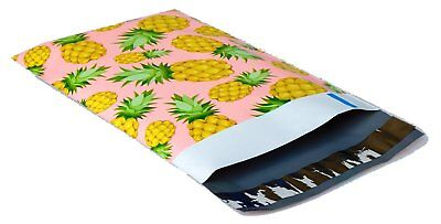 100 6x9 Pink Yellow Pineapple Smilemail Designer Poly Mailers Envelopes Bags