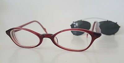 Martine Sitbon Eyeglass Frames Sunglasses Clip On 143mm 46-19 6234 Made in Japan