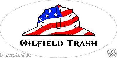 Oilfield Trash American Flag Helmet Sticker Hard Hat Sticker Laptop Sticker