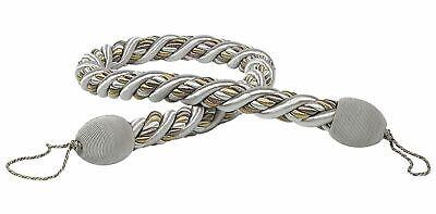 "HOULÈS Cord Tieback 120 cm (47""), Silver, Les Marquis 35610-9900"