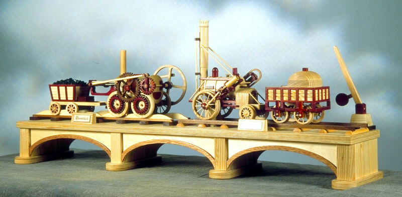 First Trains, a woodworking railroad project from early locomotive history