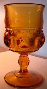 REDUCED! 10 Carnival Glass Amber Goblets West Island Greater Montréal image 2