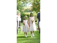 Matching girls dresses age 10 and 6 suitable for a wedding