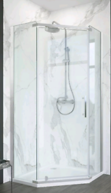 Brand new Pentegon shower enclosure 90x90cm