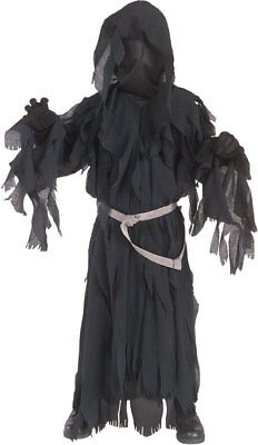 Jungen Kind Herr der Ringe Deluxe Ringwraith Robe mit Kapuze Kostüm (Ringwraith Kostüm Kind)