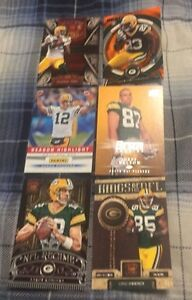 6 Mixed Green Bay Packers Football Cards