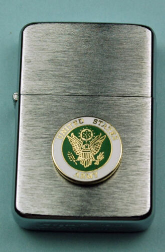Army Crest WIND PROOF PREMIUM LIGHTER IN A GIFT BOX  ARMY   SBC002