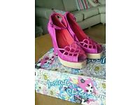 Pink leather irregular choice shoes