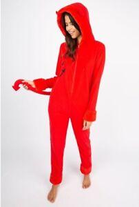 Women's Devil Onesie Halloween Costume