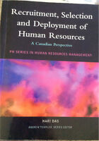 Recruitment, selection and deployment of human resources