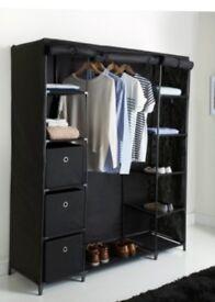 Large Deluxe Canvas Wardrobe (Black)