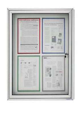Schaukasten CC  - Alu Infokasten für Außen, 4 x DIN A4