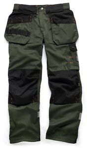 Scruffs-Trade-Trousers-Green-Hardwearing-Work-Trouser-Cordura-NEW-Workwear-Pants