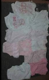 Baby girl clothes bundle.