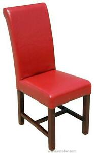 High BackDining Room Kitchen ChairChair in Red