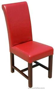 High Back Dining Room Kitchen Chair Chair in Red