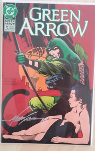 signed Green Arrow comic