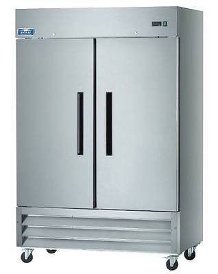 Arctic Air Ar49 2 Door Stainless Steel Commercial Reach-in Cooler Refrigerator