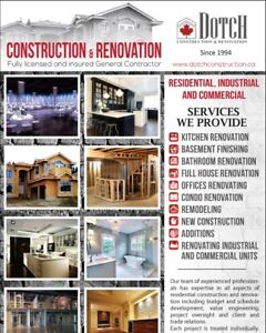 Renovation and construction