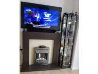 Freestanding Electric Fireplace & Surround