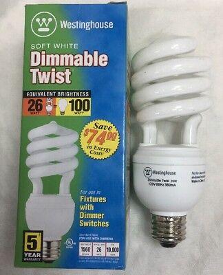 26/twist/dim/27 Westinghouse CFL # 07259 26 Watt DIMMABLE Compact Twist Lamp