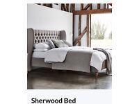 Kingsize fabric bed frame