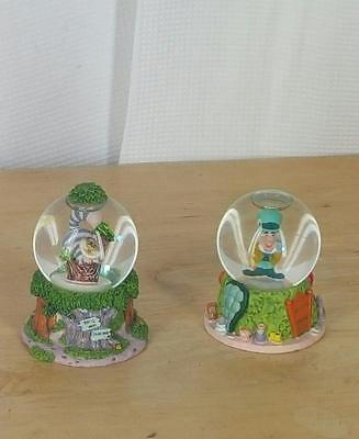 Disney Mini Snow globes Alice In Wonderland Cheshire Cat Mad