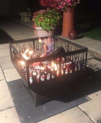 Flame Themed Fire Pit Firepit Log Burner