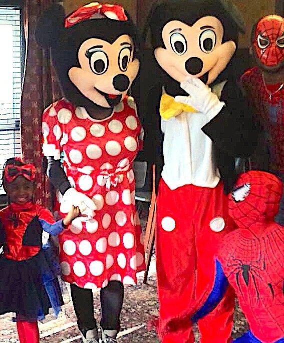 Childrens Entertainer CLOWN & MASCOTS MICKEY MINNIE Mouse SPIDERMAN kids BALLOON MODELLER MAGICIAN