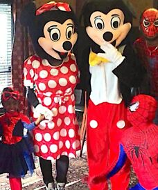 **Childrens Entertainer CLOWN & MASCOTS MICKEY MINNIE Mouse SPIDERMAN kids AVENGERS SUPERHERO BATMAN