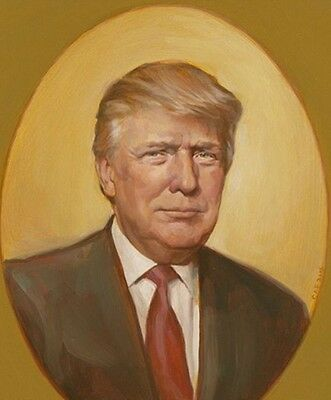 President Donald Trump First Official Oil Painting Amazing Glossy 8 5X11 Photo