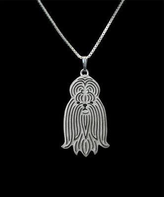 Shih Tzu Pendant - Shih Tzu Silver Charm Pendant Necklace, Dog Lover, Friend Gift