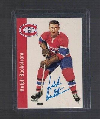 1994 Parkhurst Ralph Backstrom Montreal Canadiens Autographed Card W/Our COA C
