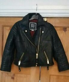 Kids river island leather bikers jacket aged 4