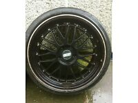 19 INCH BBS LM 5X112 ALLOY WHEELS AND TYRES AUDI VW SEAT MERC