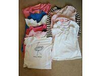 Bundle of girls t shirts and dress aged 7-8