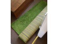 Free green rug
