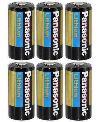 6 Panasonic 3V Lithium Cr123a Batteries For Camera  Flashlight Etc