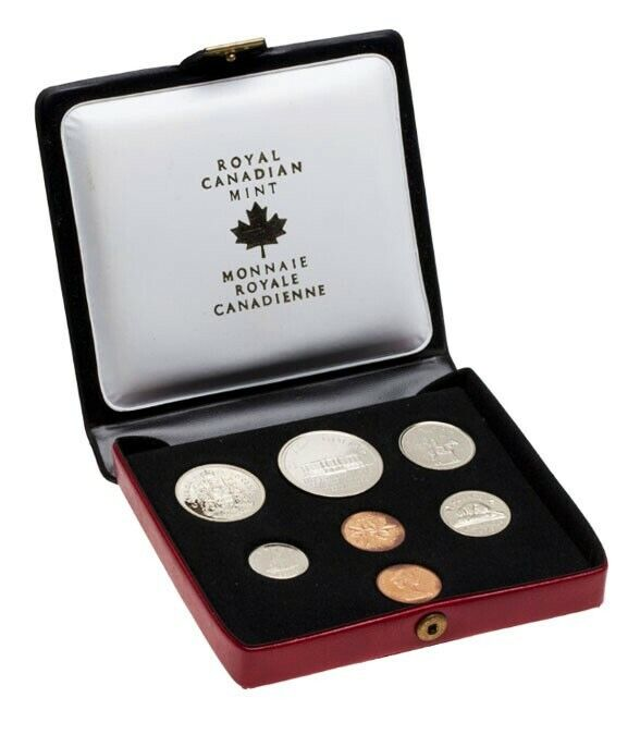 1973 SPECIMEN CANADA DOUBLE PENNY 7 COIN ROYAL MINT UNCIRCULATED SET