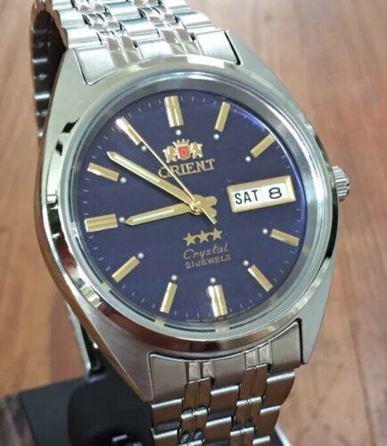 NEW MODEL*** Orient 3 Star BLUE Stahl Herren Damen Automatic Watch Automatik Uhr
