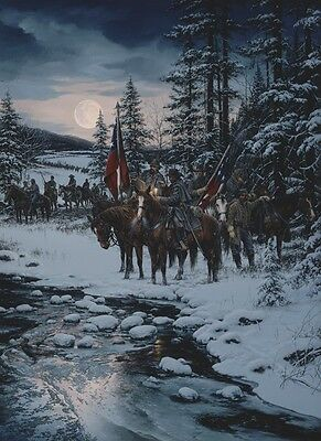 Snow Moon  John Paul Strain Exec  Canvas Giclee A P   Nathan Bedford Forrest